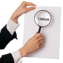 Credit report mistake